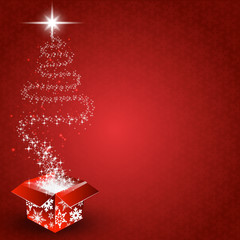 red background christmas