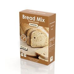 3D Bread Mix paper package isolated on white