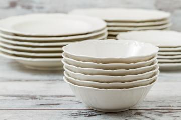 Pile of Porcelain Plates