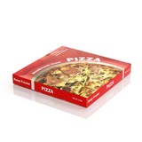 3D Pizza paper package isolated on white - 72982247