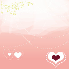romantic veiled background