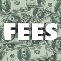 Fees Word Money Background Penalty Added Cost Price