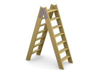 Ladder and Success Concept - 3D
