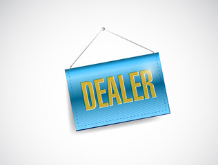 dealer hanging banner illustration