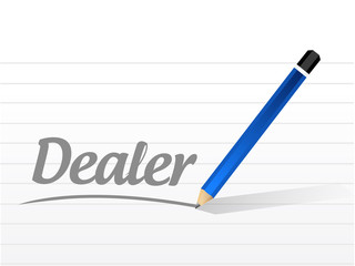 dealer message sign illustration