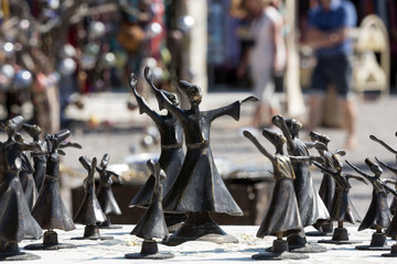 Turkish souvenirs: figures of dervishes, Turkey