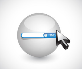 sphere search bar illustration design