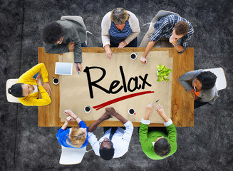 People in a Meeting and Relaxation Concepts