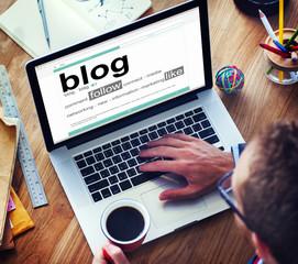 Digital Dictionary Blog Follow Like Concepts