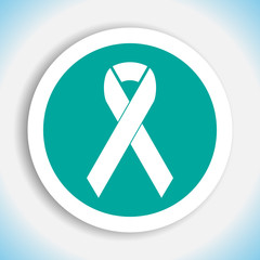 breast cancer awareness ribbon vector icon