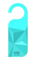modern do not disturb door hanger with triangle design
