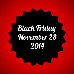 black friday vector design poster template, eps10