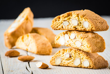 Cantuccini, typical tuscan biscuits or cookies.