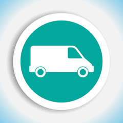 commercial van vector icon