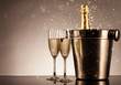 Celebration theme with champagne still life - 72984408