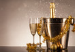 Celebration theme with champagne still life - 72984414