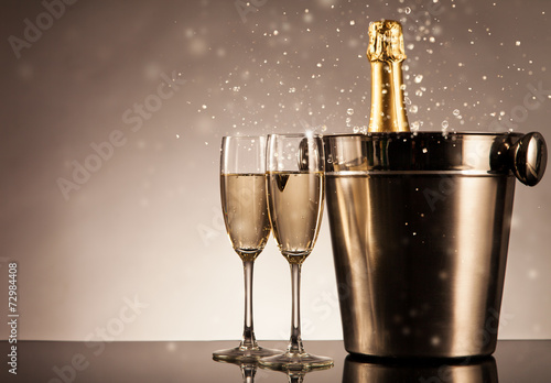 Fotobehang Bar Celebration theme with champagne still life