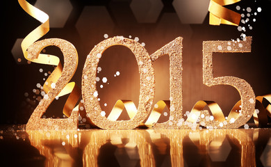 Elegant gold 2015 New Year background