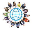 Diverse Multiethnic World People Holding Hands
