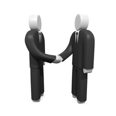 Two businessmen shaking hands. Concept of reaching agreement