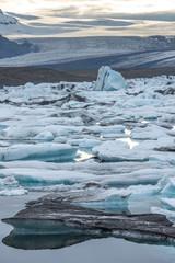 Vertical view of Jokulsarlon - Glacier Lagoon, Iceland.