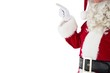 Mid section of santa pointing