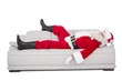Santa claus sleeping on the couch - 72985803