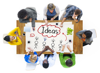People in a Meeting and Ideas Concepts