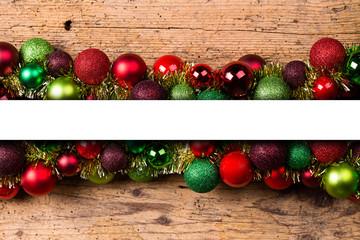 Weihnachtsgirlande mit Textfläche