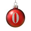 Christmas ball font number 0