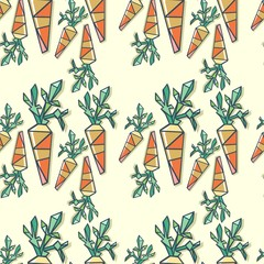 trendy pattern with carrot vector