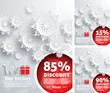 Merry Christmas background discount percent - 72987040