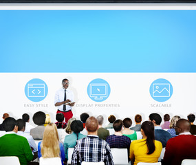 Group of People Seminar Web Page Concept