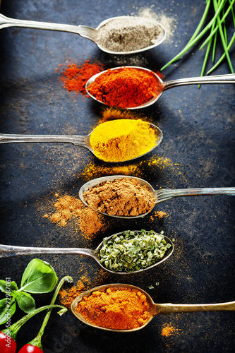 Fototapeta Herbs and spices selection