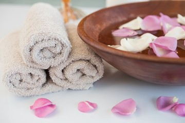Towels and other spa objects