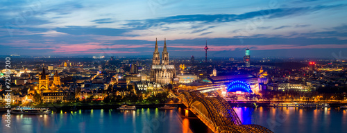 canvas print picture Cologne Panorama