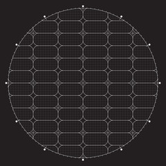 Grid for modern virtual technology user interface HUD