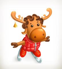 Reindeer, vector icon