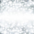 Silver starry christmas background.