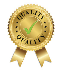Vector of Quality (Gold & Green)