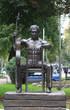 Постер, плакат: Monument to Soviet singer songwriter poet and actor Vladimir
