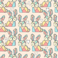cute bunny pattern