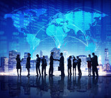 Fototapety Business People Hand Shake Stock Exchange City Concept