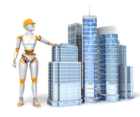 Android and office buildings