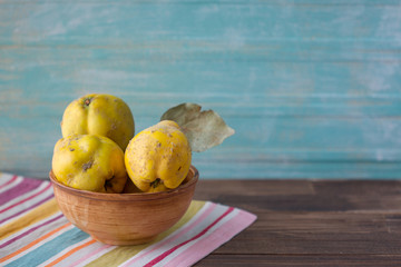 Quince in a bowl