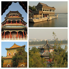 group of images from Summer Palace in Beijing, UNESCO