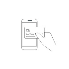 Payment by credit card via smartphone
