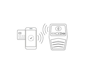 Payment by smartphone via nfc