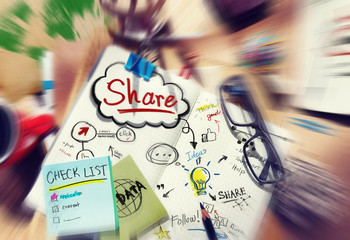 Share Ideas Click Think People Concepts