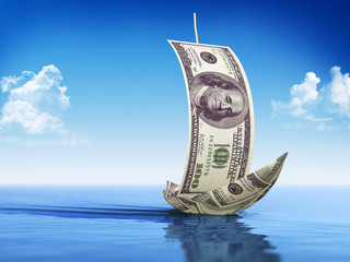 Sailboat made of Dollar